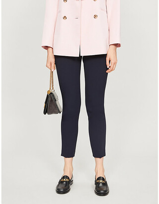 Claudie Pierlot Poulin slim mid-rise woven trousers