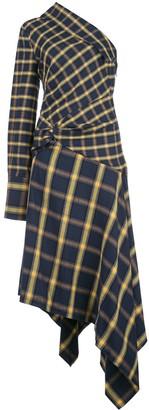 Monse check pattern dress