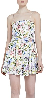 Alice + Olivia Trixie Floral Print Sleeveless Mini Dress