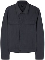 Plac Navy Faux Suede Jacket