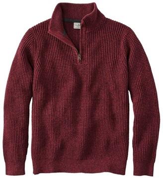 L.L. Bean Men's Organic Cotton Sweater, Quarter Zip