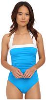 Lauren Ralph Lauren Bel Aire Shirred Bandeau Mio Slimming Fit w/ Soft Cup