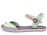 Webster Sophia Marcela Flat Espadrille Sandal, Putty