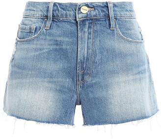 Frame Le Cutoff Distressed Denim Shorts