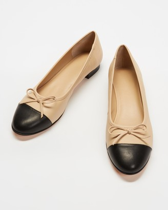 Atmos & Here Atmos&Here - Women's Brown Ballet Flats - Angelina Leather Ballet Flats - Size 5 at The Iconic