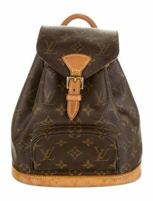 Louis Vuitton Monogram Montsouris MM Backpack Brown