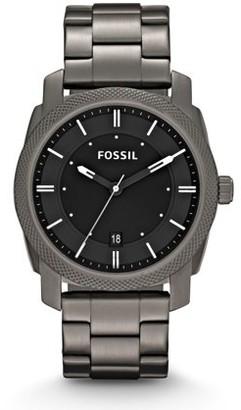 Fossil Men's Machine Smoke Stainless Steel Watch (Style: FS4774)