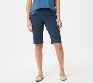 Martha Stewart Regular Stretch Twill Bermuda Shorts
