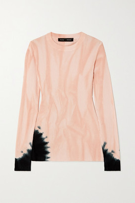 Proenza Schouler Tie-dyed Ribbed-knit Sweater - Pink