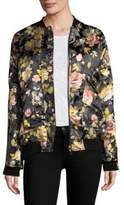 Free People Floral Jacquard Bomber