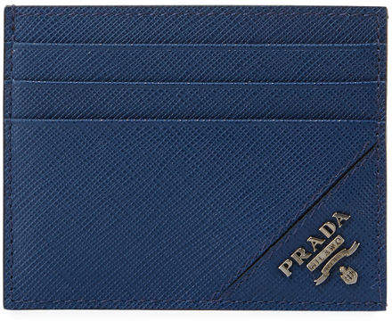 929d5e5b1e3f Prada Saffiano Blue Wallet Men - ShopStyle