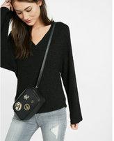 Express wide open neck kimono-sleeve sweater