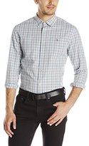 Original Penguin Men's Long Sleeve Check Shirt Plain Weave