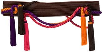 Yves Saint Laurent Pre Owned Rope Tassel Belt
