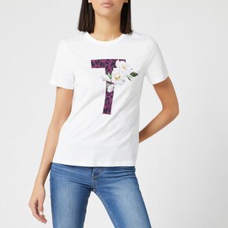 Ted Baker Women's Delilai Wilderness Logo Short Sleeve Tshirt