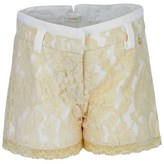 Microbe by Miss Grant Gold and Cream Lace Shorts
