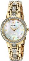 Seiko Women's 'Ladies Crystal Dress' Quartz Stainless Steel Casual Watch, Color:Gold-Toned (Model: SUP364)
