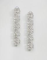 Asos Jewel Flower Strand Earrings