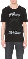 Gucci text print cotton t-shirt