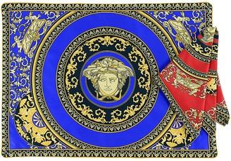 Versace Medusa Cotton Placemat And Napkin