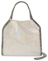 Stella McCartney Mini Falabella - Holograph Faux Leather Crossbody Bag - White