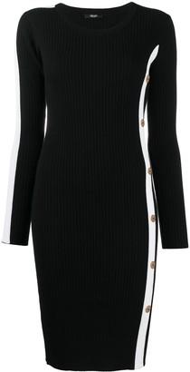 Liu Jo Ribbed-Knit Side-Stripe Dress