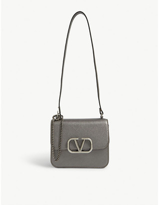 Valentino VSling metallic leather shoulder bag