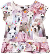 Molo Short Sleeve Lovely Llama Ebba T-shirt