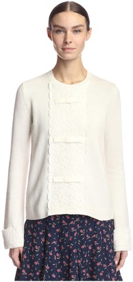 By Ti Mo Women's Sweater with Lace