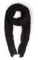 Akris Punto Lace-Trim Knit Scarf, Black