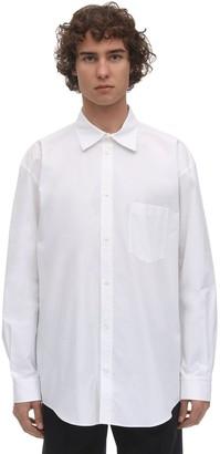 Balenciaga Cotton Poplin Shirt W/Rubber Logo