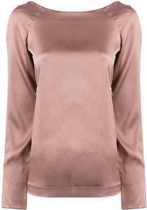Fabiana Filippi long-sleeve silk top