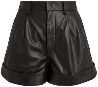 Etoile Isabel Marant Leather Abot High-Rise Shorts