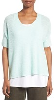 Eileen Fisher Women's Slubbed Organic Linen & Cotton Top