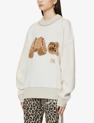 Palm Angels Bear branded wool jumper