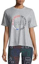 P.E Nation Jump-Off Crewneck Short-Sleeve Logo-Graphic Cotton Jersey Tee
