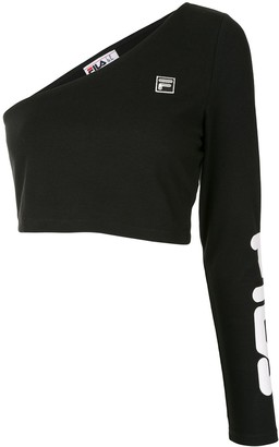 Fila one-shoulder logo print T-shirt