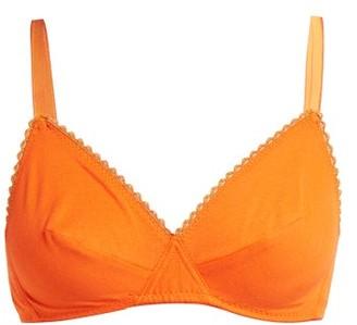 Araks Antonia Cotton Soft-cup Bra - Womens - Orange