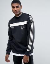 Adidas Originals 83-c Crew Neck Jumper In Black Bk7518