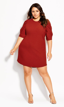 City Chic Impulse Vibes Dress - amber