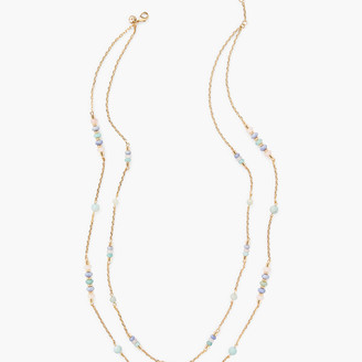 Talbots Double Layer Semiprecious Stone Necklace