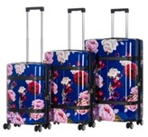 Thumbnail for your product : Triforce Luggage Triforce Versailles 3-Piece Spinner Floral Luggage Set