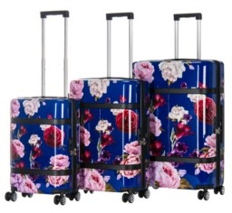 Triforce Luggage Triforce Versailles 3-Piece Spinner Floral Luggage Set
