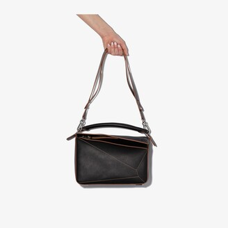 Loewe black Puzzle medium leather shoulder bag
