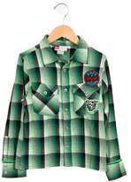 Diesel Boys' Plaid Button-Up Shirt