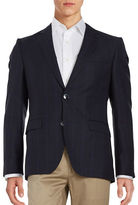 HUGO Pick-Stitched Button Front Jacket