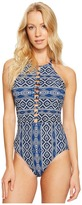 LaBlanca La Blanca - Designer Jeans Hi-Neck Plunge One-Piece Women's Swimsuits One Piece