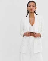 Asos Edition EDITION double breasted blazer in sequin