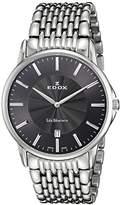 Edox Men's 56001 3M GIN Les Bemonts Analog Display Swiss Quartz Silver Watch