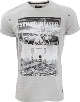 Firetrap Mens San Francisco City Bridge Graphic Print Short Sleeve T-Shirt (X Large) (Grey)